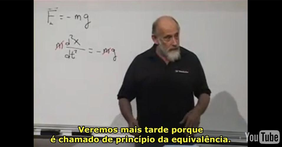 """14º lugar: Do curso """"Física Moderna"""", a primeira aula sobre a teoria de Albert Einstein"""