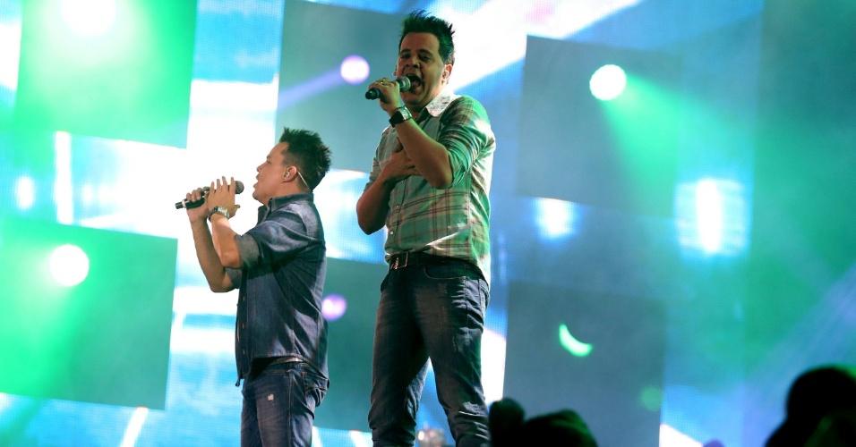 A dupla João Neto & Frederico faz seu show do Rodeio de Barretos/SP, na oitava noite da Festa de Peão (23/8/12)