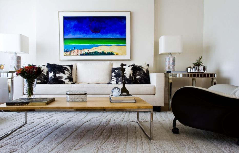 Sala De Estar Com Quadros Modernos ~ sala de estar possui vista maravilhosa para a Lagoa Rodrigo de