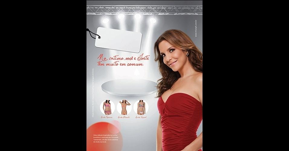 Agosto: A cantora Ivete Sangalo lançou uma coleção de lingerie em parceria com a Triumph e a estilista Fernanda Yamamoto