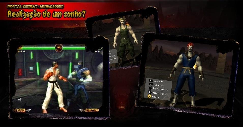 """Além de trazer uma grande quantidade de lutadores, o jogador também pode criar seu próprio personagem. Não demorou para os usuários montarem lutadores de outros jogos, como """"Street Fighter"""", e assim promover o crossover que nunca se realizou oficialmente"""
