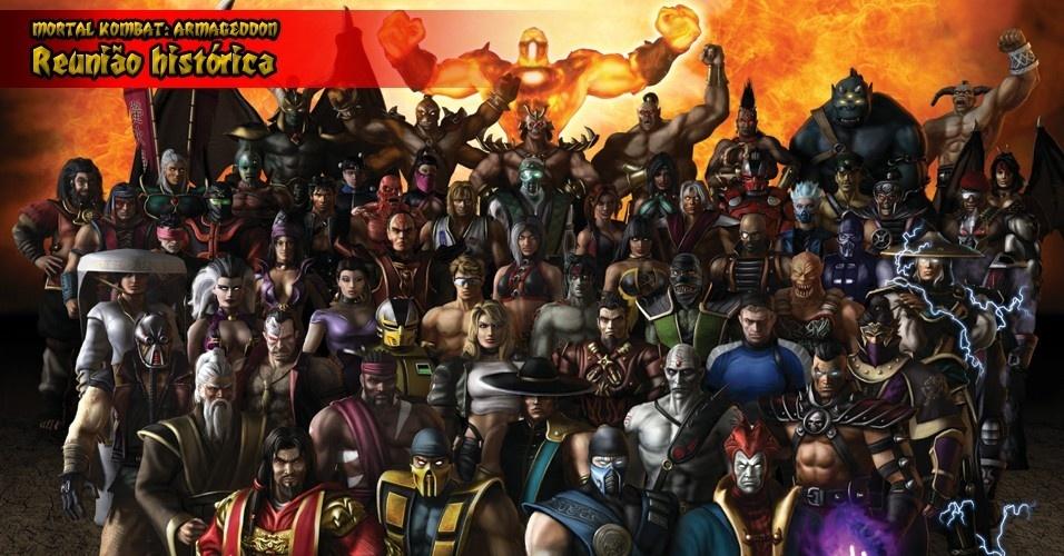 """""""Armageddon"""" tem apenas dois personagens novos - Daegon e Taven -, mas traz praticamente todos os lutadores das edições anteriores, somando 62 rostos (no Wii tem um a mais)"""