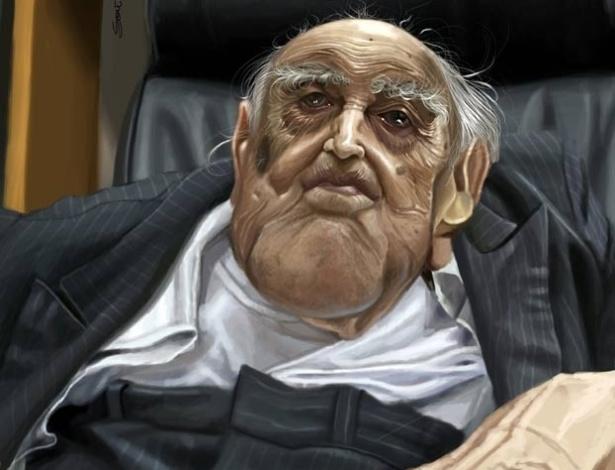 Caricatura de Oscar Niemeyer produzida por Allan Souto Maior é uma das 89 caricaturas presentes no Salão do Humor de Piracicaba, realizado entre 25 de agosto e 15 e 14 de outubro