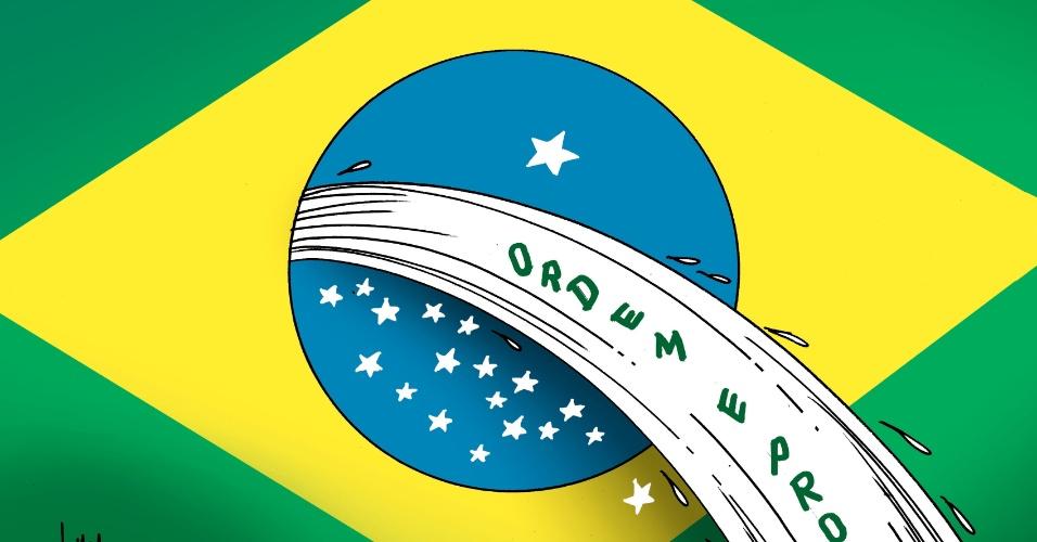 Charge do brasileiro Ivan Cabral, um dos artistas presentes no 39º Salão do Humor de Piracicaba. Em 2012, o salão distribui R$ 47 mil em prêmios para os melhores artistas, anunciados no dia da abertura