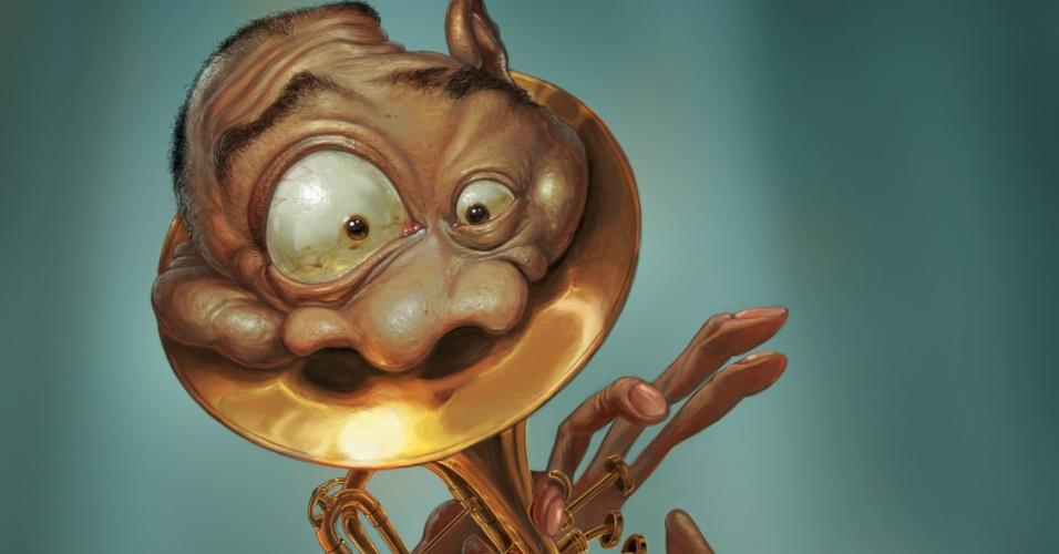 Com caricatura do trompetista Miles Davis, o ilustrador Bruno Hamzagic de Carvalho venceu os prêmios Zélio de Ouro e Prêmio Caricatura do 39º Salão do Humor de Piracicaba