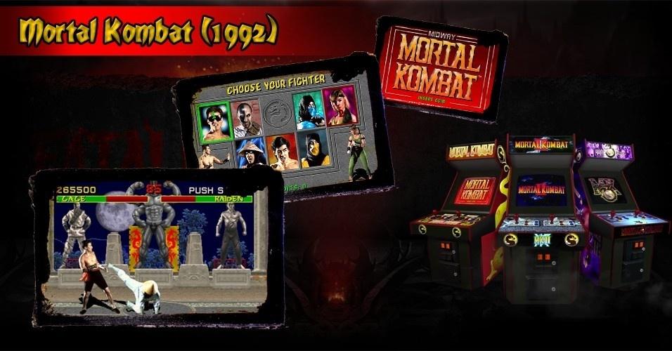 """Como muitos jogos, a história de """"Mortal Kombat"""" começou nos fliperamas. Os games de luta pegavam fogo, mas poucos tiveram impacto de """"Mortal"""": a crueza da violência chocou e encantou jogadores"""