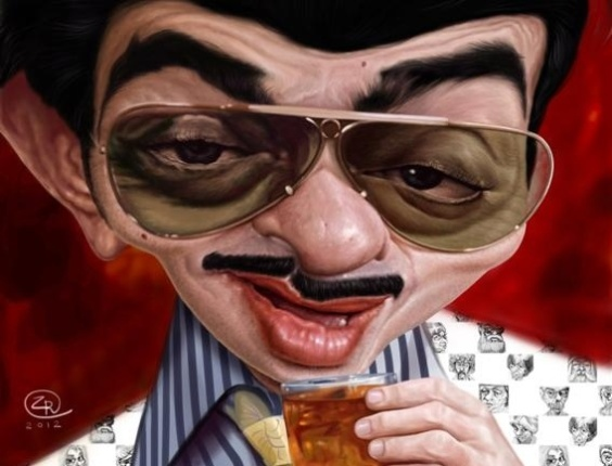 """Ilustração do personagem Tavares do humorista Chico Anysio foi criada por José Augusto de Lima Rodrigues e que estará no Salão do Humor de Piracicaba. Neste domingo (26), a mostra """"Dando Cara ao Traço"""" é aberta em homenagem ao humorista"""