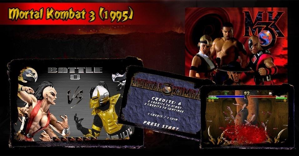 """""""Mortal Kombat 3"""" continuou o legado da série, mas foi criticado por excluir lutadores populares. Isso foi remediado nas versões """"Ultimate"""" e """"Trilogy"""""""