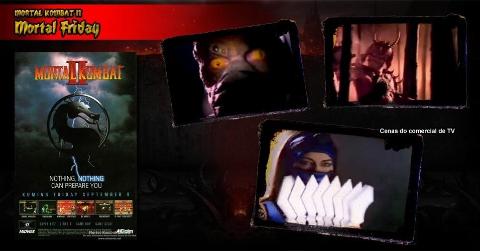 """O lançamento de """"Mortal Kombat"""" para consoles, em 9 de setembro de 1994 (chamada de """"Mortal Friday""""), foi acompanhado de uma campanha de marketing de US$ 10 milhões, com direito a comercial de TV e tudo. Mais de 2,5 milhões de cópias foram despachadas para as lojas. Desta vez, a Nintendo não censurou o jogo"""