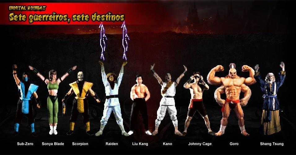 O primeiro jogo conta a história de sete lutadores selecionados para um torneio de vida ou morte promovido por Shang Tsung. O nome do torneio? Mortal Kombat