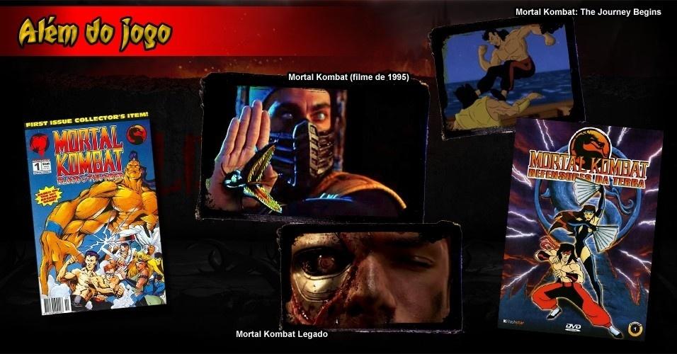 """O sucesso de """"Mortal Kombat"""" o levou para além das fronteiras do entretenimento eletrônico: a série gerou dois longa-metragens para cinemas, histórias em quadrinhos, desenhos animados e séries para TV e web"""