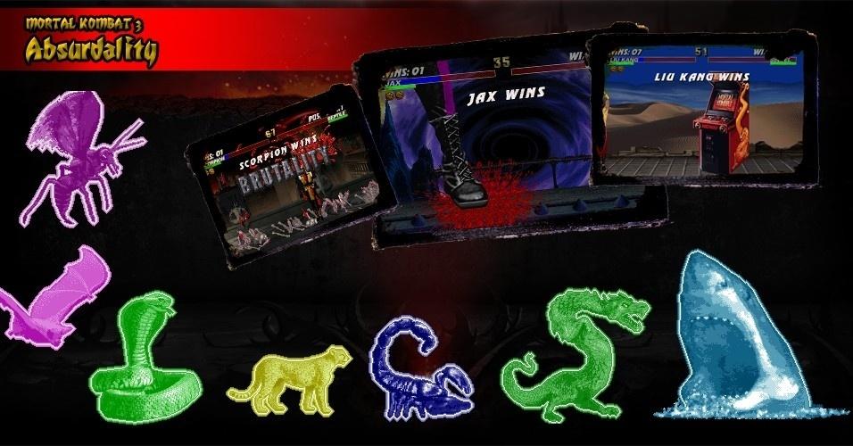 """Os Fatalities de """"Mortal Kombat 3"""" foram ficando cada vez mais absurdos. Liu Kang, por exemplo, tem um golpe final em que jogar um gabiente de fliperama sobre o oponente. Os Animalities (que transforma o lutador num bicho) e os Brutalities (sequência fatal de golpes) estrearam no terceiro jogo"""