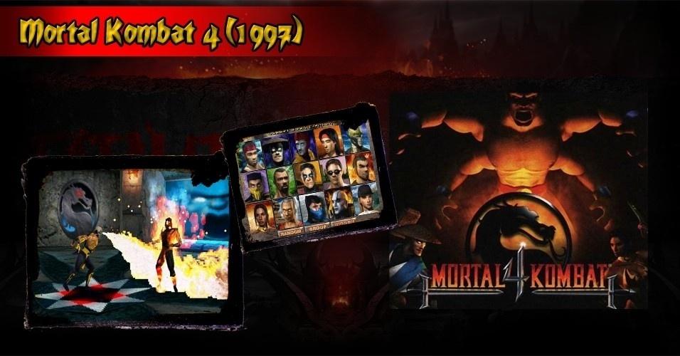 """Os games evoluíram e passaram cada vez mais a usar gráficos poligonais. A quarta edição de """"Mortal Kombat"""" acompanhou os tempos e pela primeira vez utilizou a nova tecnologia"""