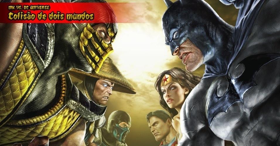 """Segundo os criadores, o elenco de """"Mortal Kombat vs. DC Universe"""" foi escolhido de acordo com a popularidade dos personagens. No total, 22 guerreiros se digladiam"""
