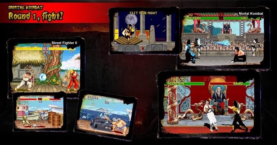 """""""Street Fighter II"""" e """"Mortal Kombat"""" protagonizaram uma das maiores rivalidades da época. O primeiro foi o principal responsável pela febre dos jogos de luta, mas """"Mortal"""" inaugurou uma escola totalmente diferente, em que a experiência visual era mais importante"""