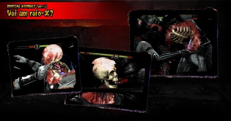 """Um dos golpes mais legais de """"Mortal Kombat"""" (2011) são os chamados raio-X, que provocam grande dano e traz uma representação visual muito bacana"""