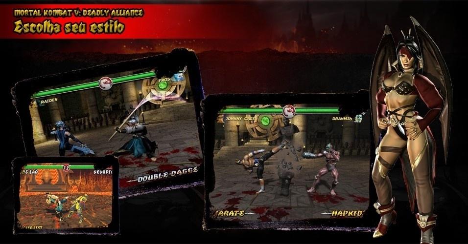 """Uma das novidades de """"Deadly Alliance"""" são os estilos de luta: cada personagem assume duas artes marciais, incluindo várias escolas de caratê e kung-fu, e uma habilidade com armas. Isso ajudou a dar mais estratégia para o game"""
