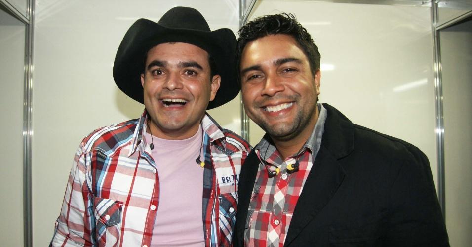 A dupla Thales (dir.) & Thiago (esq) se apresentou na 57ª edição da Festa do Peão de Barretos, em São Paulo (25/8/12)