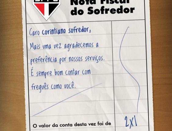 Corneta FC: Agora o Corinthians é freguês e leva até nota fiscal