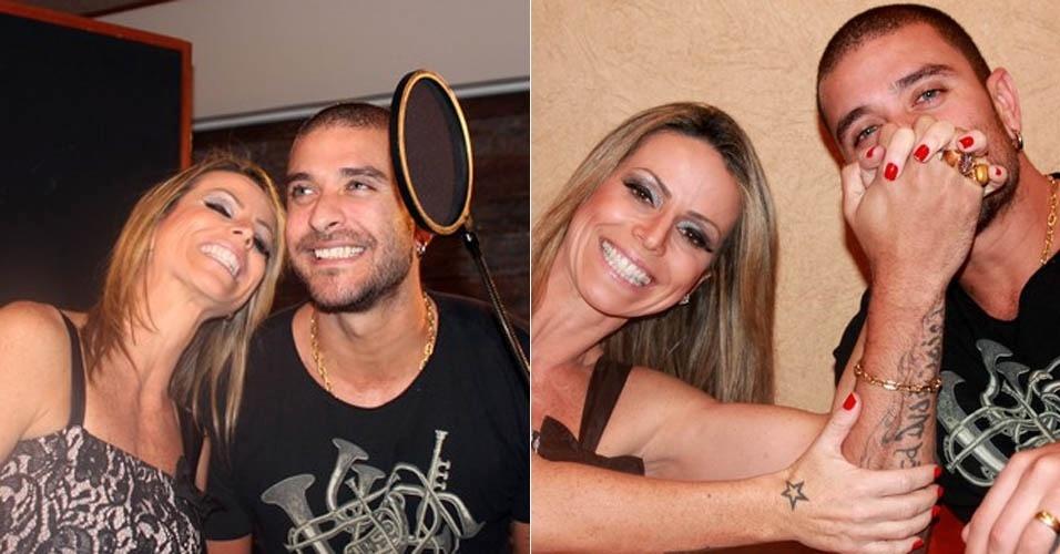 Diogo Nogueira grava participação no CD da sobrinha de Beth Carvalho (27/8/2012)
