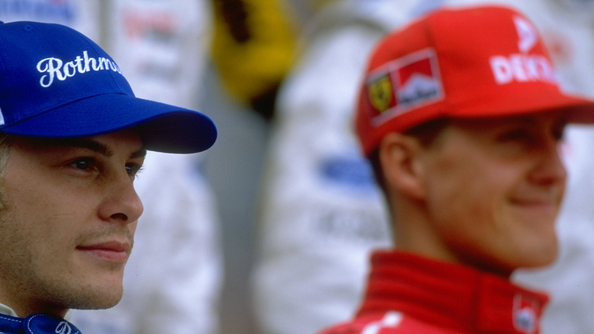 Jacques Villeneuve e Michael Schumacher em 1997