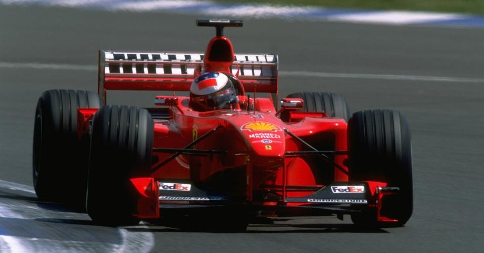 Michael Schumacher em ação no GP da Inglaterra de 1999