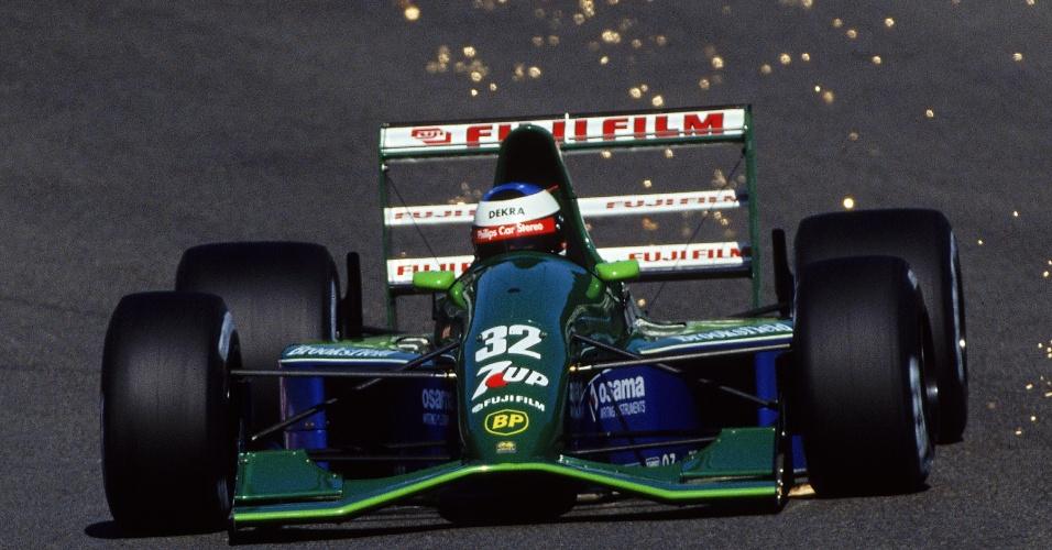 Michael Schumacher em ação no Grande Prêmio da Bélgica de 1991