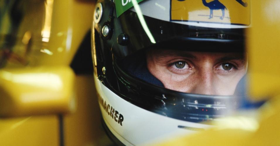 Michael Schumacher em ação no Grande Prêmio da Itália de 1991