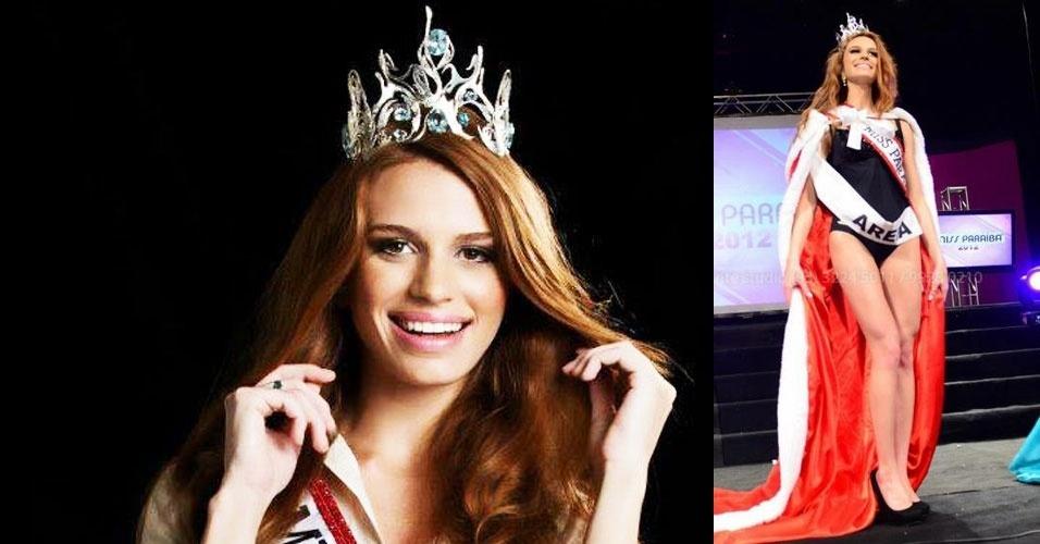 Miss Paraíba, Natália Oliveira, 21, 1,75m, representou Areia