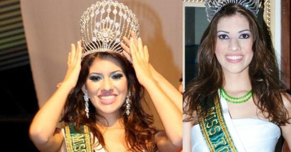 Miss Tocantins, Viviane Fragoso, 22, 1,78 m, representou Almas