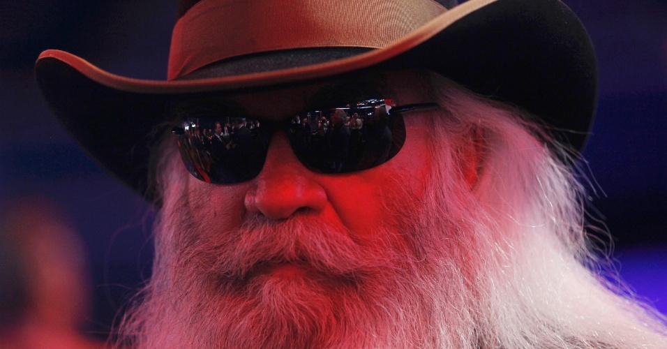 28.ago.2012 - O cantor William Lee Golden, di grupo The Oak Ridge Boys, participa da Convenção Nacional do Partido Republicano, em Tampa, na Flórida (EUA), nesta terça-feira (28)