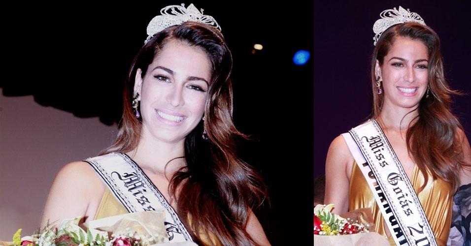 Miss Goiás, Hérika Noleto, 24, 1,80 m, representou Porangatu