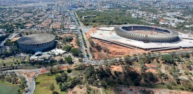 Obras do Mineirão e da esplanada em volta do estádio devem ser concluídas até o final deste ano