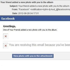 Texto enviado por e-mail alerta sobre marcação no Facebook; informação dos golpistas é falsa