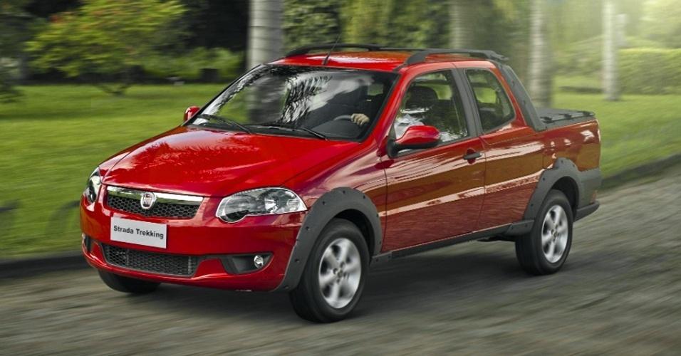Fiat Strada: 33.917 unidades. Com redução, parte de R$ 31.490. Dados fechados da Fenabrave de maio à primeira quinzena de agosto de 2012