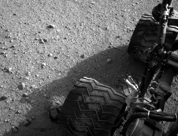 30.ago.2012 - O jipe-robô andou cerca de 16 metros em direção ao leste no seu 22º dia no Planeta Vermelho