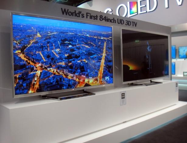 A grandona TV 3D UD, da LG, será lançada por cerca de R$ 45 mil em setembro, em diversos países