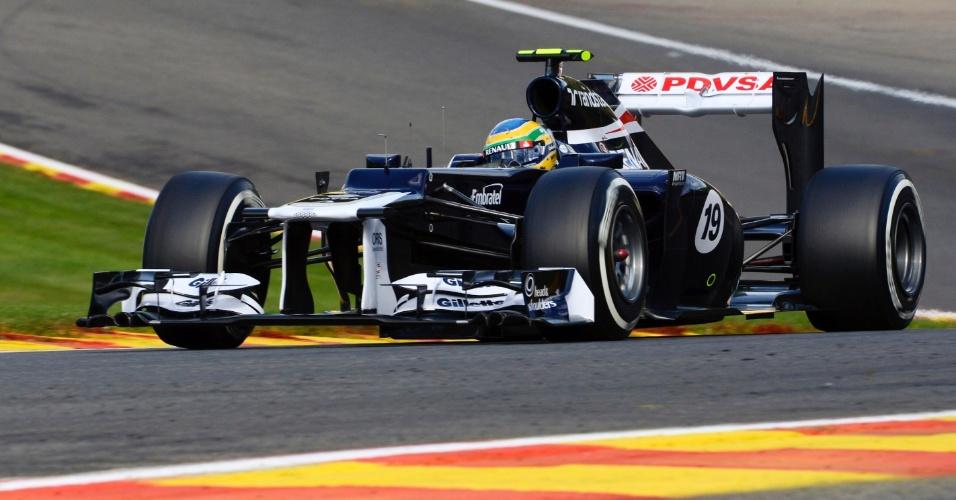 Bruno Senna participa de treino classificatório para o GP da Bélgica de Fórmula 1 (01/09/12)