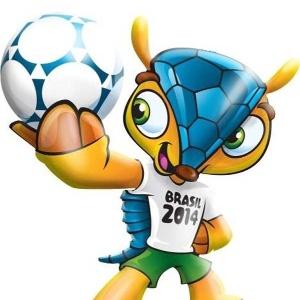 Tatu-bola, ainda sem nome, que será a mascote oficial da Copa de 2014