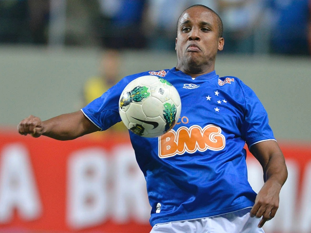 Borges durante vitria do Cruzeiro sobre o Nutico por 3 a 0 (2/9/2012)