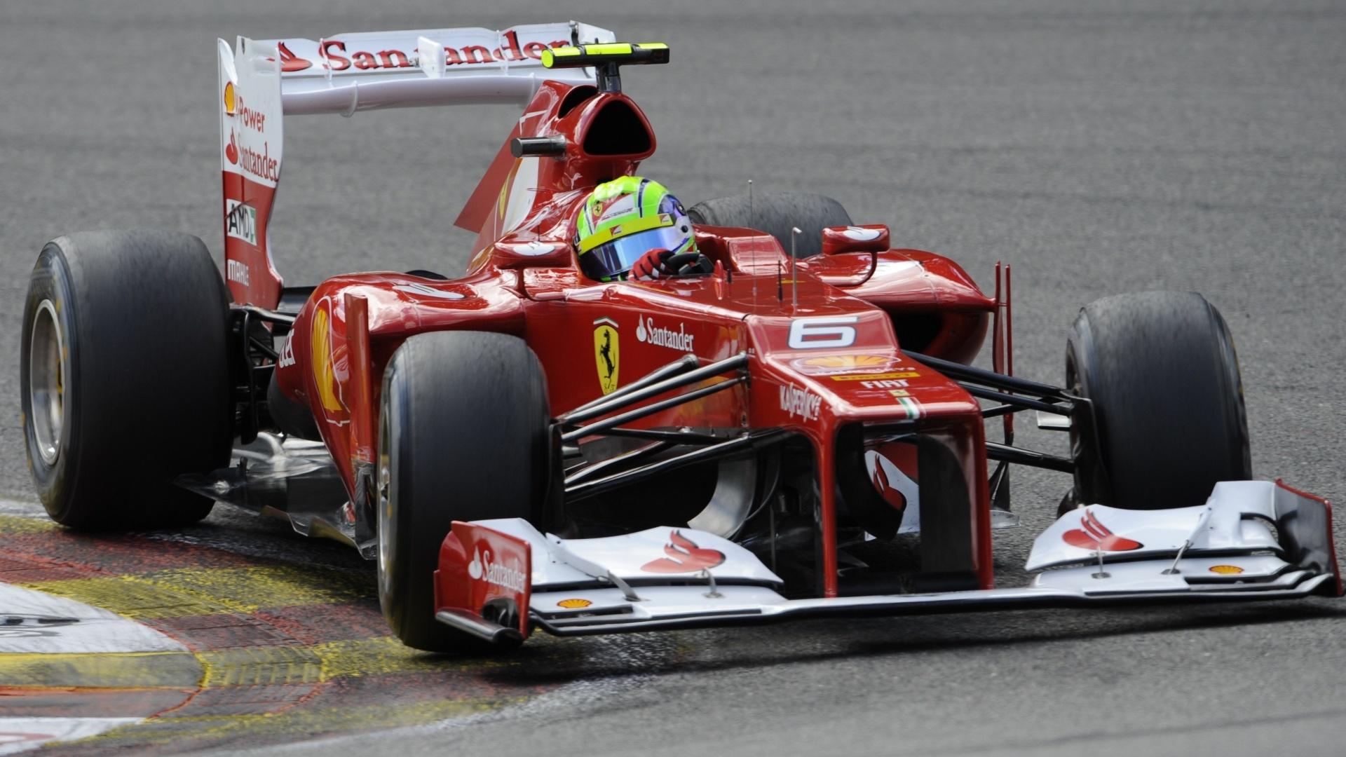 Felipe Massa participa de treino classificatório para o GP da Bélgica (01/09/12)