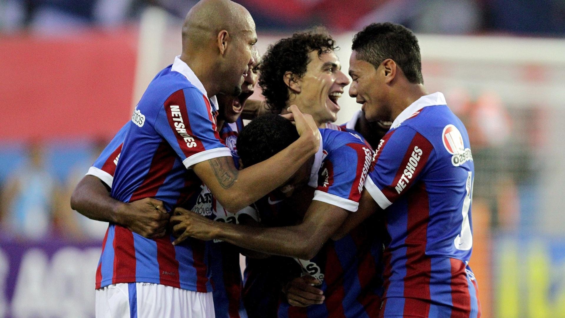 Gabriel, do Bahia, comemora gol durante a partida contra o São Paulo pela 21ª rodada do Brasileirão