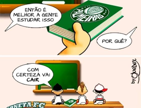 Corneta FC: Vai prestar o Enem? É bom estudar o Palmeiras, então...