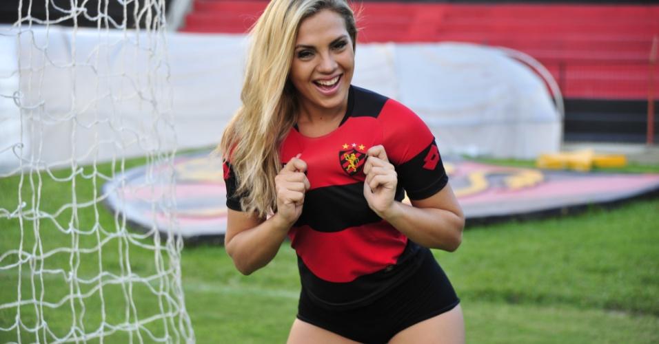 Sorriso de Mariana Rosas, do Sport