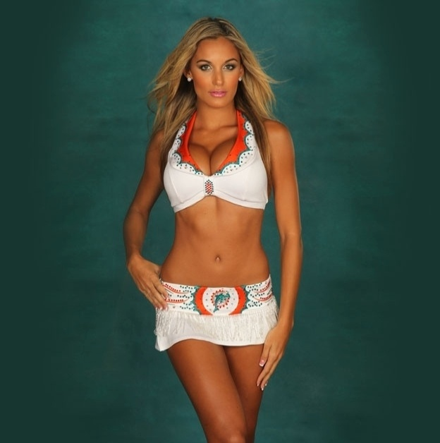 Brianne, cheerleader do Miami Dolphins