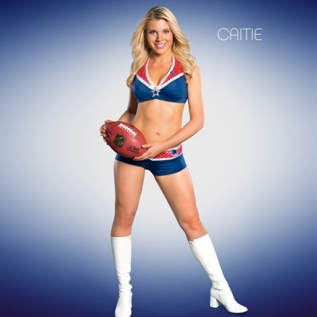 Caitie, cheerleader do New England Patriots