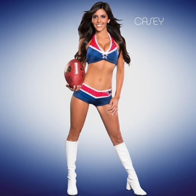 Casey, cheerleader do New England Patriots