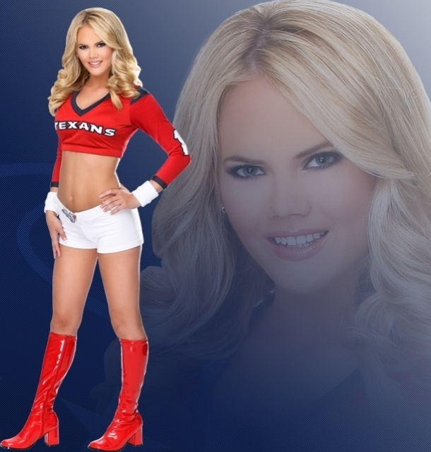 Charlotte, cheerleader do Houston Texans