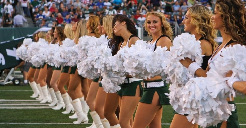 Cheerleaders do New York Jets durante partida na temporada 2011/2012