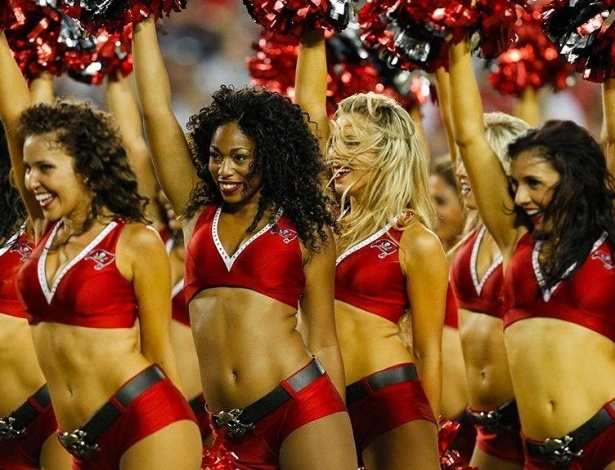 Cheerleaders do Tampa Bay Buccanners
